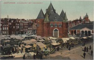 AMSTERDAM -  FISH MARKET, early view, 1900s