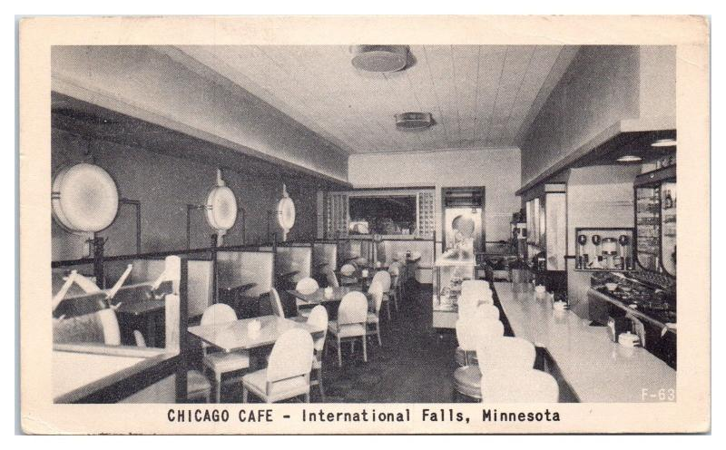 Chicago Cafe, International Falls, MN Postcard