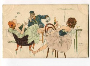 276509 Raphael KIRCHNER backstage BALLET Smoking vintage PC