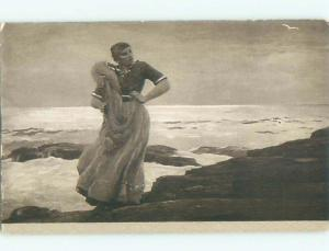 Divided-Back PRETTY WOMAN Risque Interest Postcard AA7942