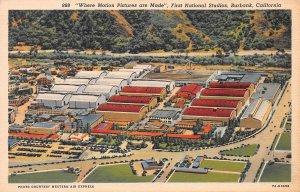 First National Studios, Burbank, California, Early Linen Postcard, Unused