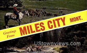 Greetings from Montana Miles City MT Unused