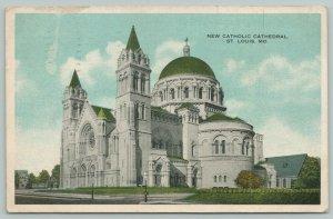 St Louis Missouri~New Catholic Cathedral~1920s Postcard
