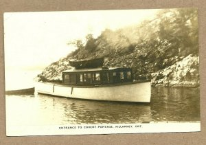 RP: KILLARNEY , Ontario , Canada , PU-1931; Steamship at entrance to Covert Port