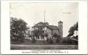 1910 Zaraphath, New Jersey Postcard Administration Building ZARAPHATH ACADEMY