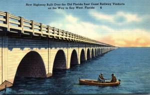 Florida Keys Fishing Along New Highway Built Over Old Florida East Coast Rail...