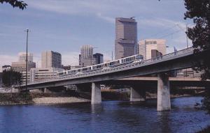 3-Car Train of LRVs, BOW RIVER, Aberta, Canada, 40-60´