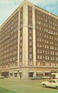 Davenport Iowa~Blackhawk Hotel~3rd & Perry Street~Mail Truck~Classic Cars~1960s