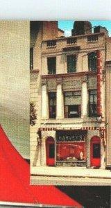 Harvey's Restaurant Washington DC Man Cook Grilling Vintage Postcard