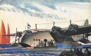 Imperial Airways, New Empire Flying Boat, Early Postcard, Unused