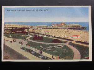 Norfolk GREAT YARMOUTH Britannia Pier & Gardens c1950's Old Postcard