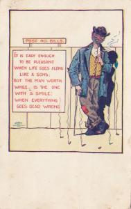 Hobo Comic , 1903 Post No Bills Poem