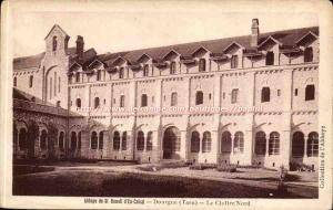 Dourgne - The North Cloister - Abbey of St Benoit d & # 39en Calcat - Old Pos...