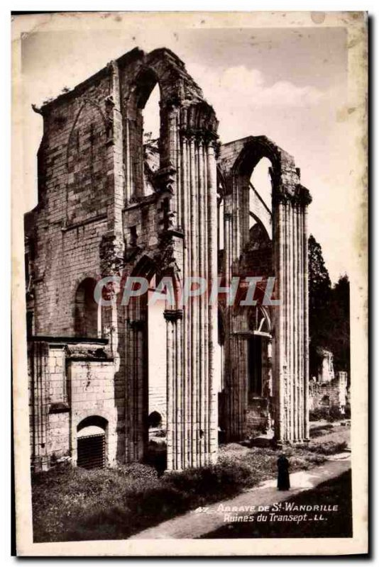 Postcard Abbey of St Wandrille Ruins of the transept