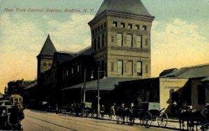 New York Central Station, Buffalo, NY, USA Railroad Train Depot 1916 light cr...