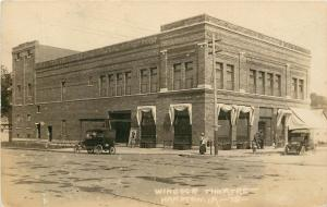 c1921 RPPC Postcard; Windsor Theatre, Hampton IA 78 Franklin Co. Street Corner