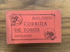 Vintage Picture Postcard Booklet; Bull Fighting, Corrida De Touros SPAIN MADRID