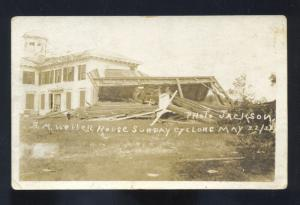 RPPC SEARSPORT MAINE TORNADO DISASTER WELLER RESIDENCE REAL PHOTO POSTCARD