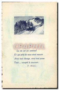 Old Postcard The Vis is a Sleep and near us just die and everything changes a...