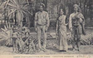 Typical Family Jardin D'Acclimation De Paris Caravane Indienne Hagenbeck Circ...