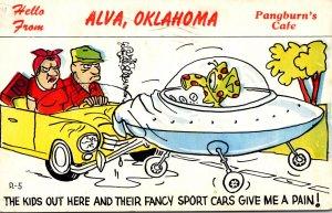 Oklahoma Alva Hello From Pangburn's Cafe