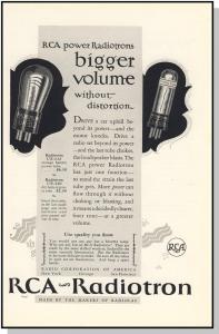 Striking 1926 RCA-Radiotron/Radio Tube Ad, Classic Ad!