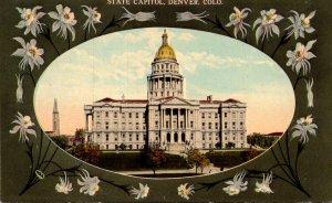Colorado Denver State Capitol Building Curteich