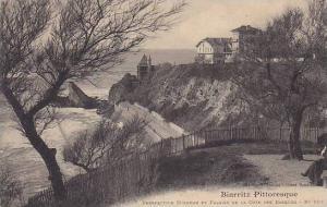 France Biarritz Perspective Miramar et Falaise de la Cote des Basques
