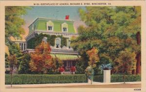 Birthplace Of Admiral Richard E Byrd Winchester Virginia