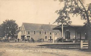 East Brownfield ME Post Office Store Railroad Station Train Depot RPPC