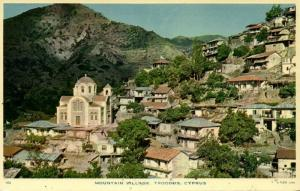 cyprus, TROODOS, Mountain Village (1950s) Tuck Postcard (1)