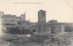 SEGOVIA, Spain, 1900-1910s; Iglesia de la Vera-Cruz y Alcazar