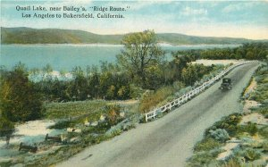 Bakersfield California Bailey's Los Angeles Quail Lake 1920s Ridge Route 9802