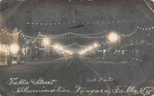LP83   Niagara Falls  New York NY RPPC  Postcard Falls St Electric Illumination