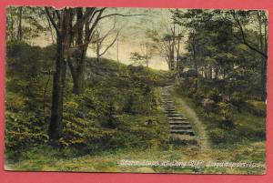 Stone Steps at Long Cliff, Logansport, Indiana - 1910