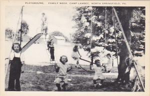 Playground Family Week Camp Lambec North Springfield Pennsylvania Artvue