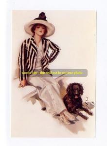 mm249 - young woman & dog - art - photo 6 x 4