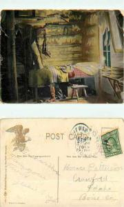 The Cow Ranchers Bunk, Divided Back.  Mailed to Crawford, Idaho