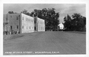 RPPC Head of Main Street, Weaverville, CA Street Scene ca 1940s Vintage Postcard