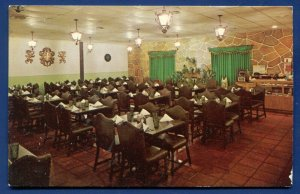 Austin, Texas tx  EL Gallo Mexican Restaurant Interior Dining Room old postcard