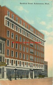 3 Postcards, Kalamazoo, Michigan, Burdick-Rickman Hotels