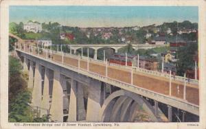 Rivermont Bridge and D Street Viaduct, Lynchburg,  Virginia, 10-20s