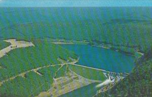 Aerial View Kinzua Dam Allegheny Reservoir Alont Route 59 Pennsylvania
