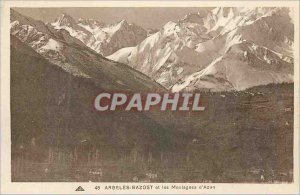 Old Postcard Argeles Gazost and the Azure Mountains