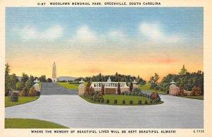 Woodlawn Memorial Park Greenville, South Carolina