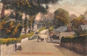 Falmouth, Marlborough Farm, Cornwall, UK c1910s Hand-Colored Vintage Postcard