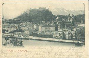 pc8620 postcard Gruss aus Salzburg Austria postally used 1904