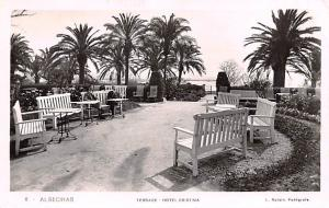 Spain Old Vintage Antique Post Card Terrace Hotel Cristina Algeciras Unused