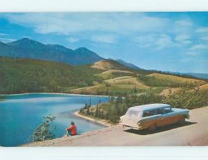 Unused Pre-1980 TOWN VIEW SCENE Carcross Whitehorse Road YT p8760