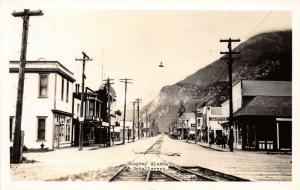 Skagway Alaska~Richter Jewelry~Canadian National Railroad~Theatre RPPC c1927 PC